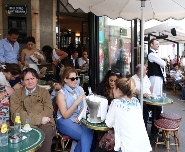 My host said famous Cafe de Flore was a place to see and be seen, but based on the guy on the left, I'd say it is a meeting place for SPIES
