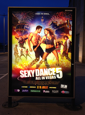We had to see by the light of the Sexy Dance poster after they closed the station